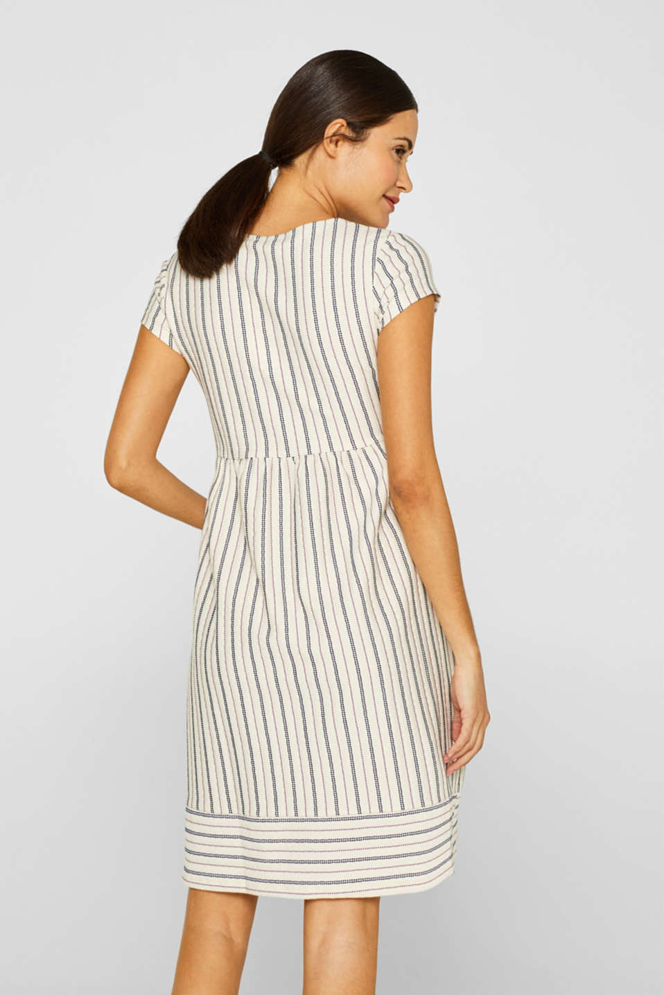 Woven nursing dress with a textured pattern, LCOFF WHITE, detail image number 2