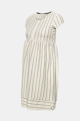 Woven nursing dress with a textured pattern, LCOFF WHITE, detail