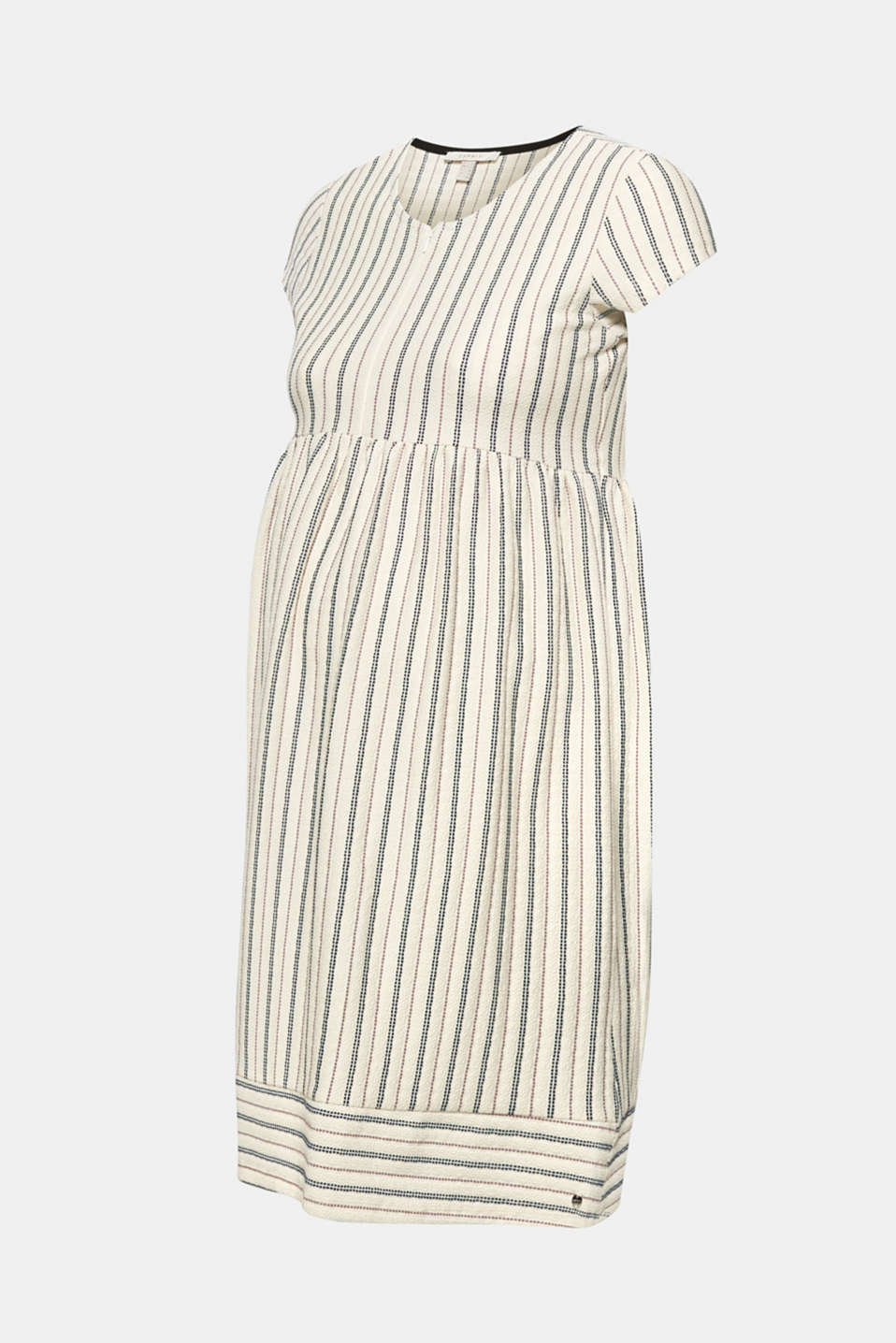 Woven nursing dress with a textured pattern, LCOFF WHITE, detail image number 8