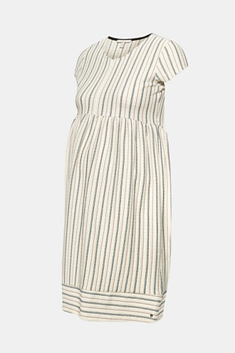 Woven nursing dress with a textured pattern