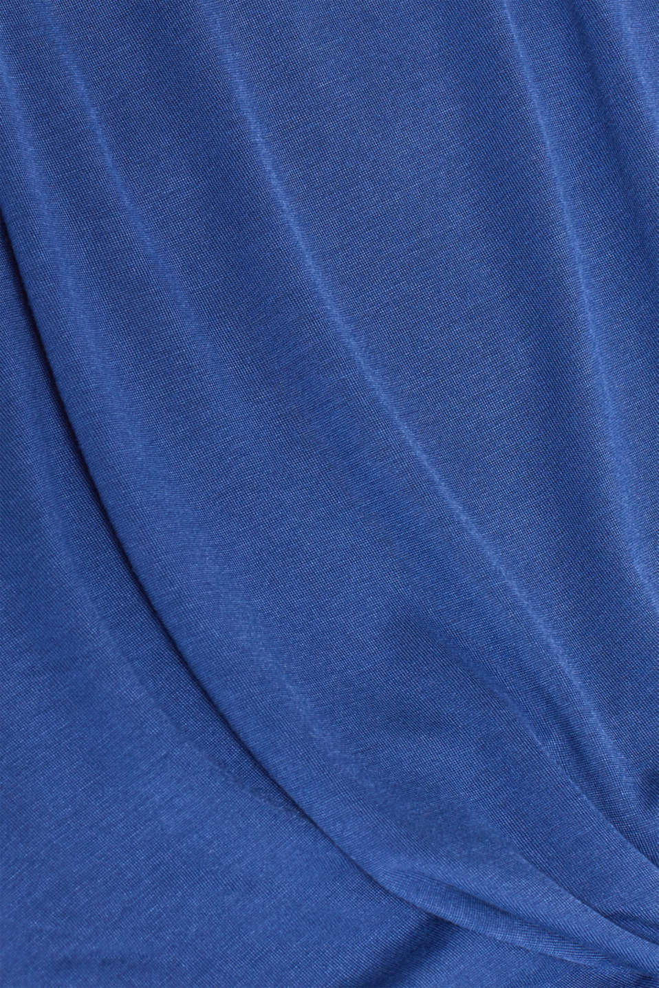 T-shirt with a knot detail on the front hem, LCDARK BLUE, detail image number 4