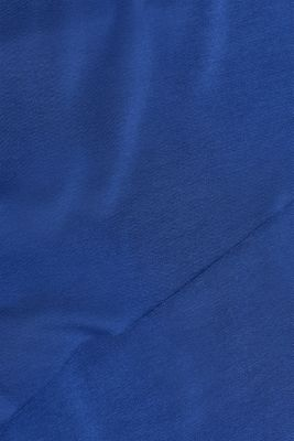 Layered-effect stretch nursing top, LCDARK BLUE, detail