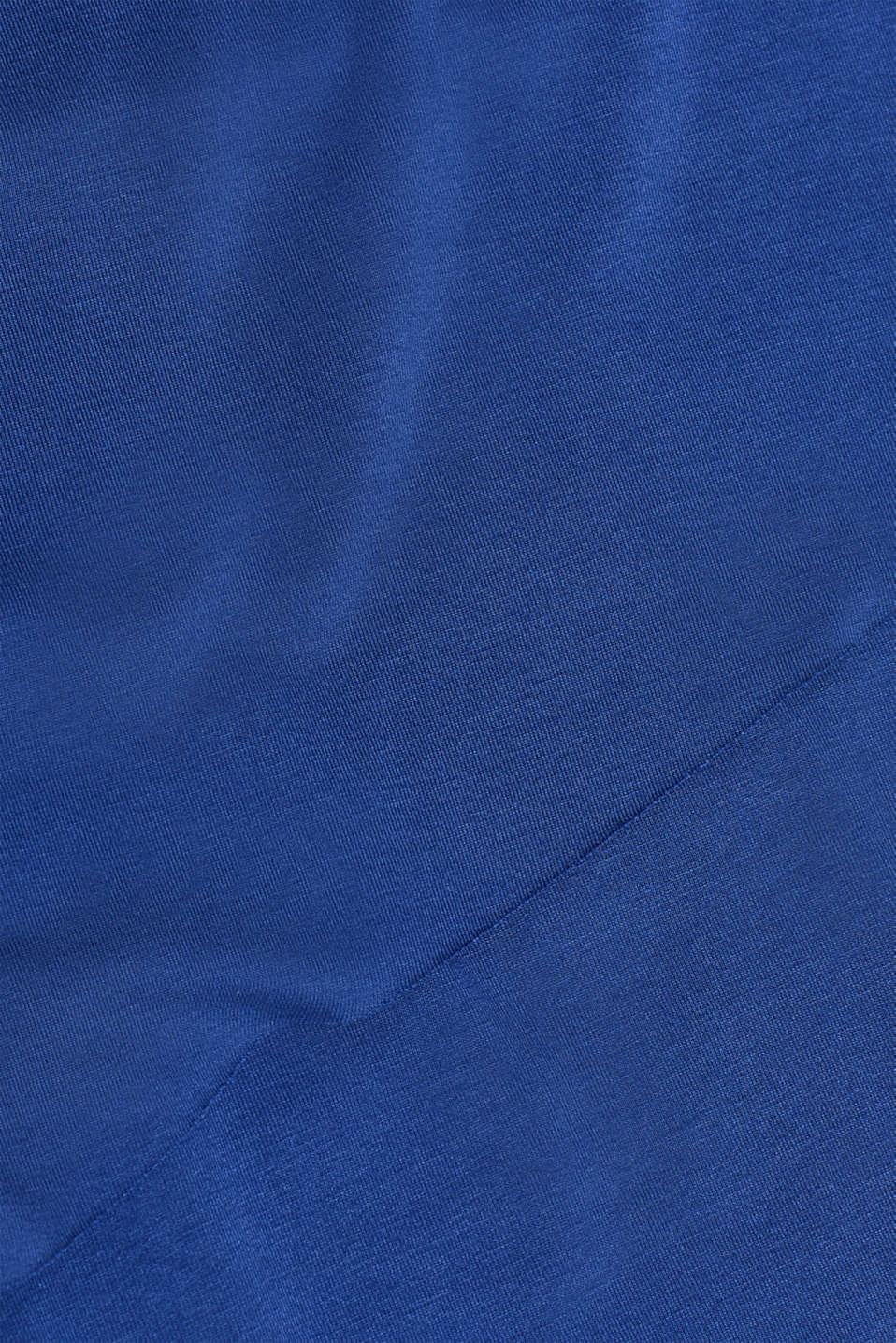 Layered-effect stretch nursing top, LCDARK BLUE, detail image number 4