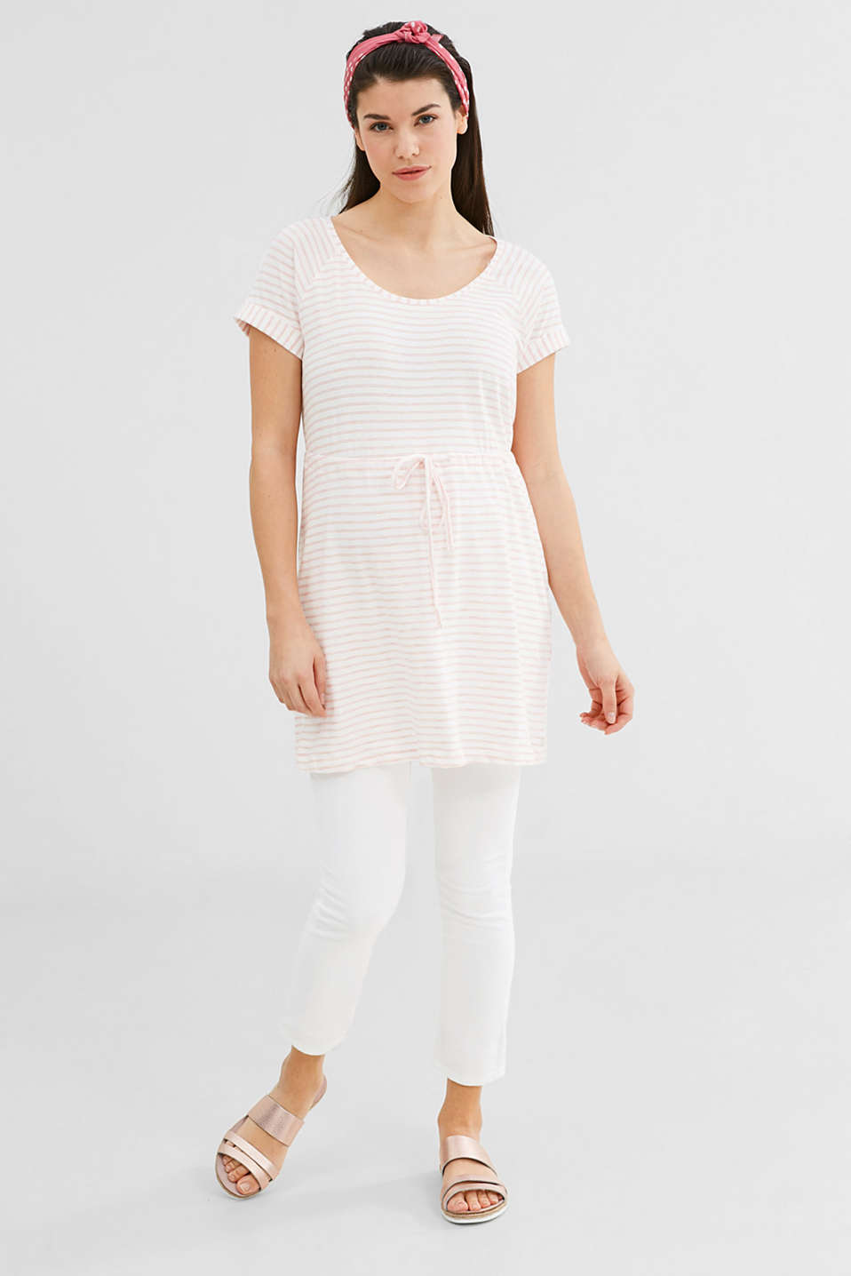 Esprit - Soft tunic top with drawstring waist