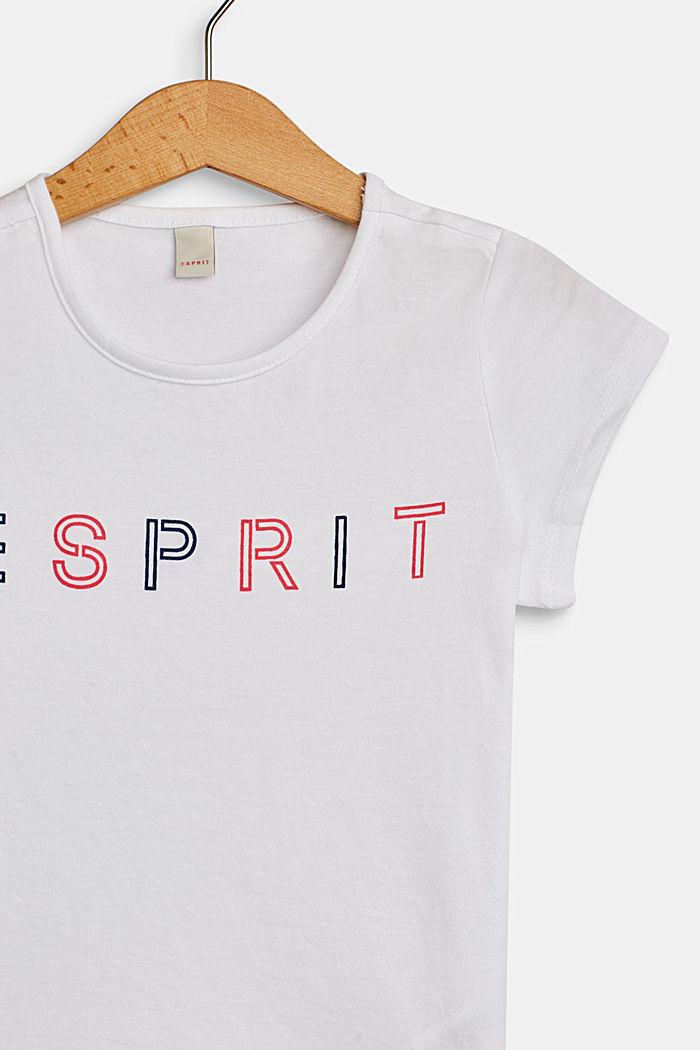 T-Shirt mit Logo-Print, 100% Baumwolle, WHITE, detail image number 2