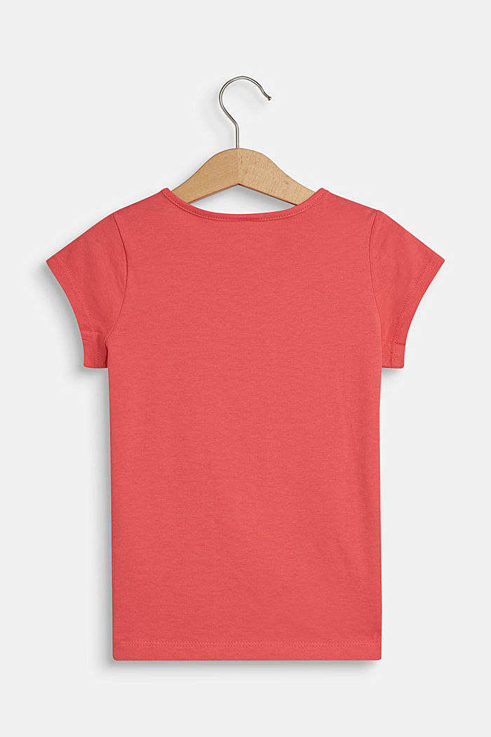 T-Shirt mit Logo-Print, 100% Baumwolle, WATERMELON, detail image number 1