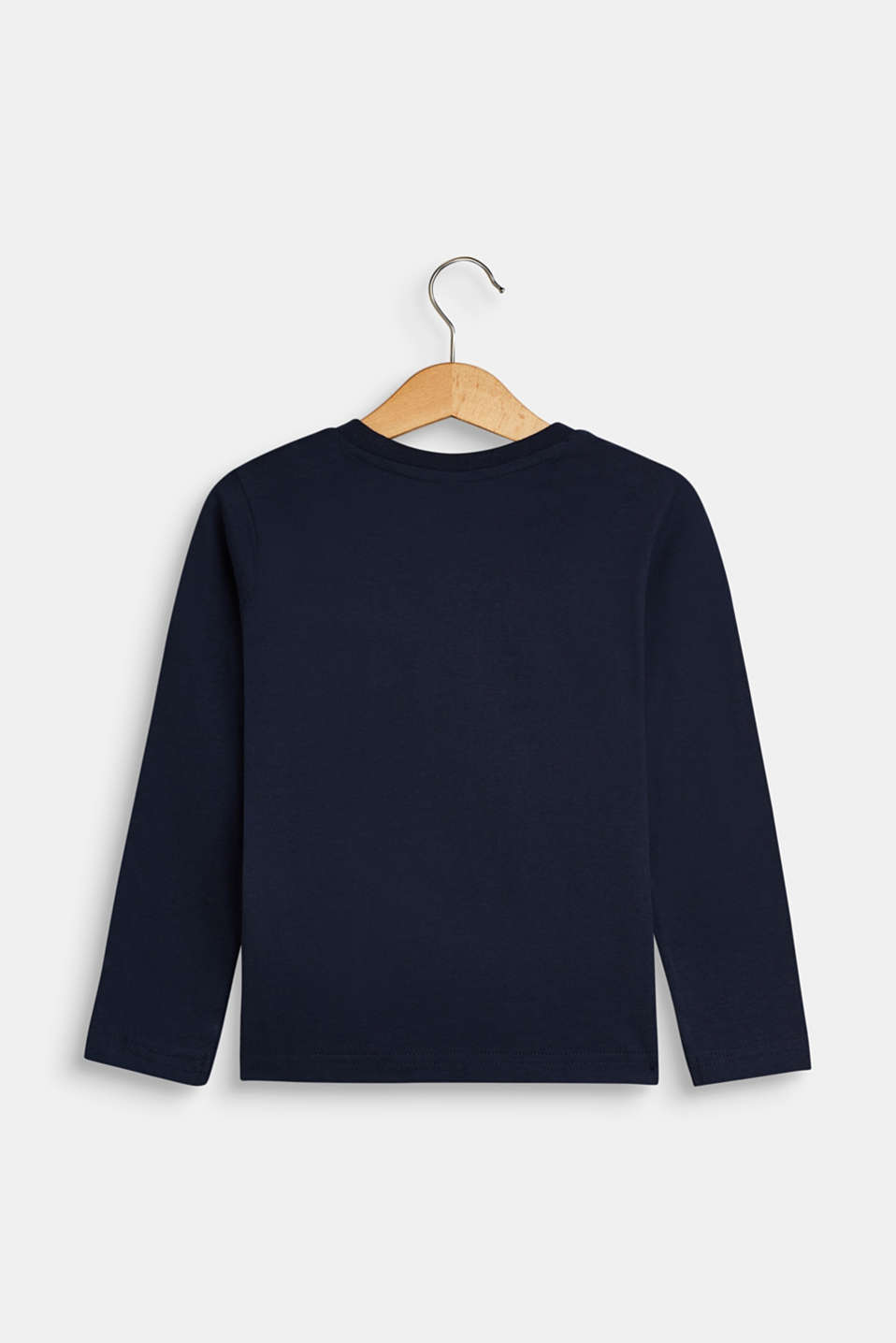 Long sleeve top with a logo print, NAVY, detail image number 1