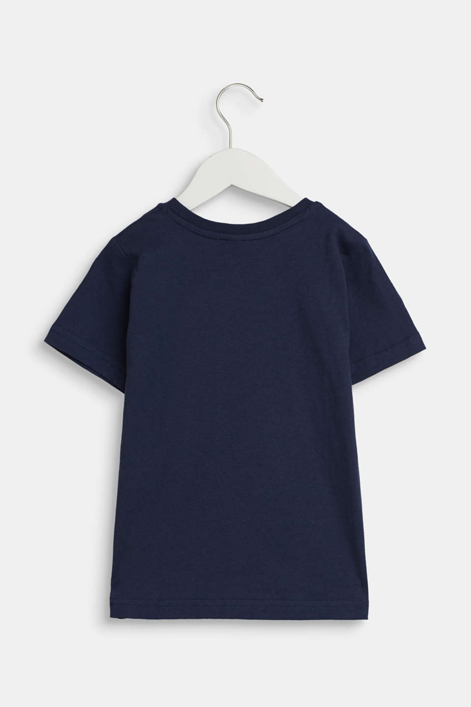 T-shirt with a logo print, in jersey, NAVY, detail image number 1