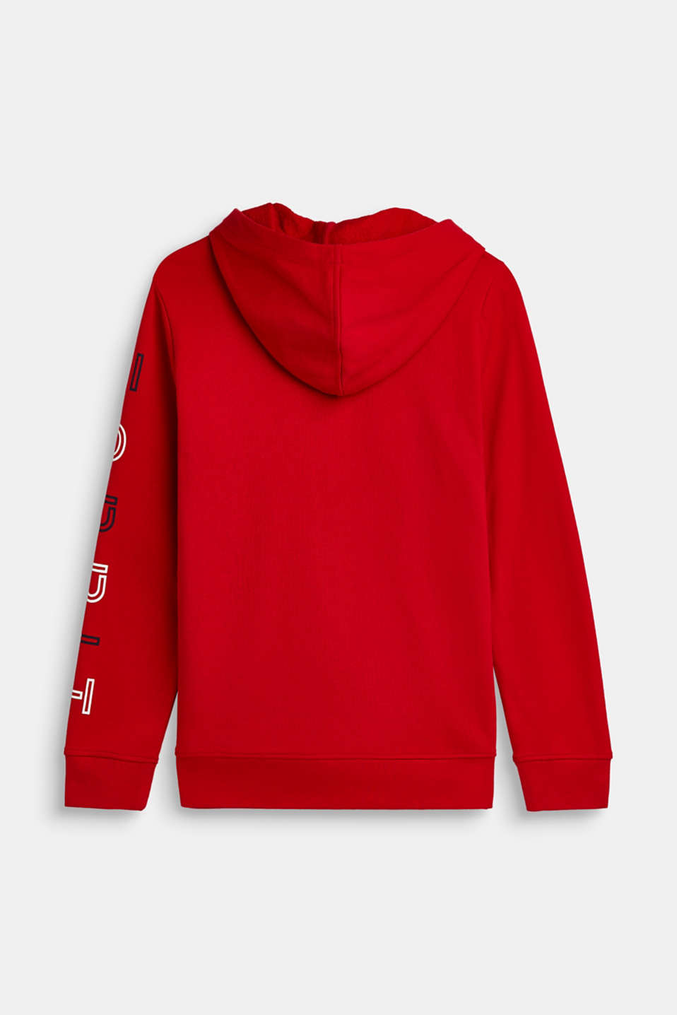 Hoodie with logo print, 100% cotton, LCRED, detail image number 1