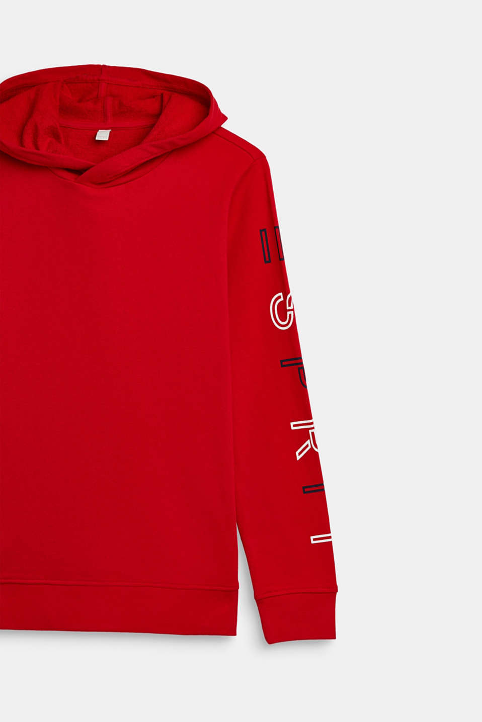 Hoodie with logo print, 100% cotton, LCRED, detail image number 2