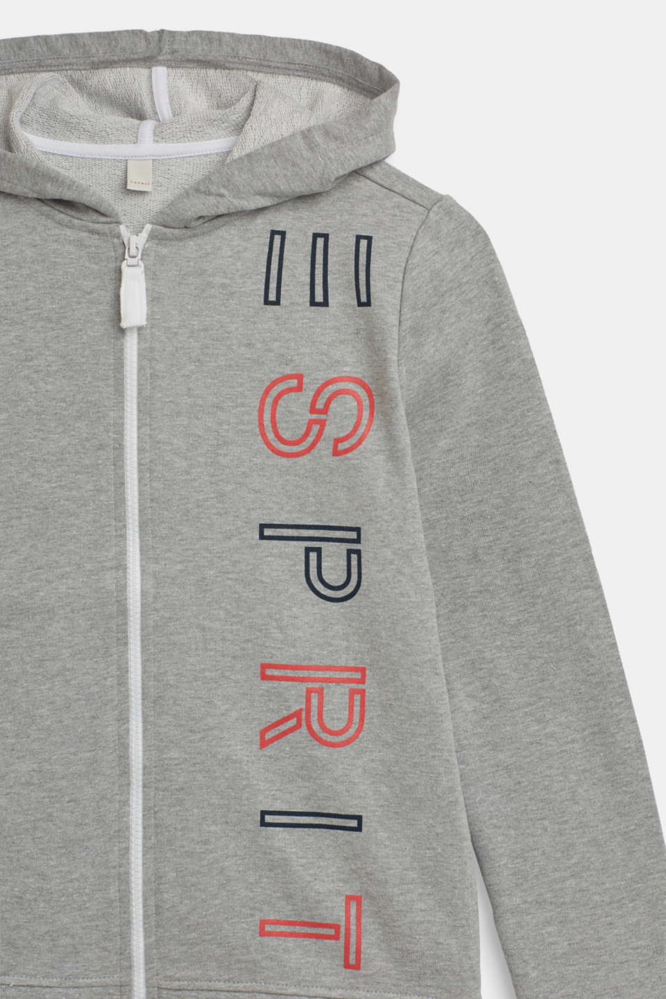 Hoodie with a logo print, LCMID HEATHER GR, detail image number 2
