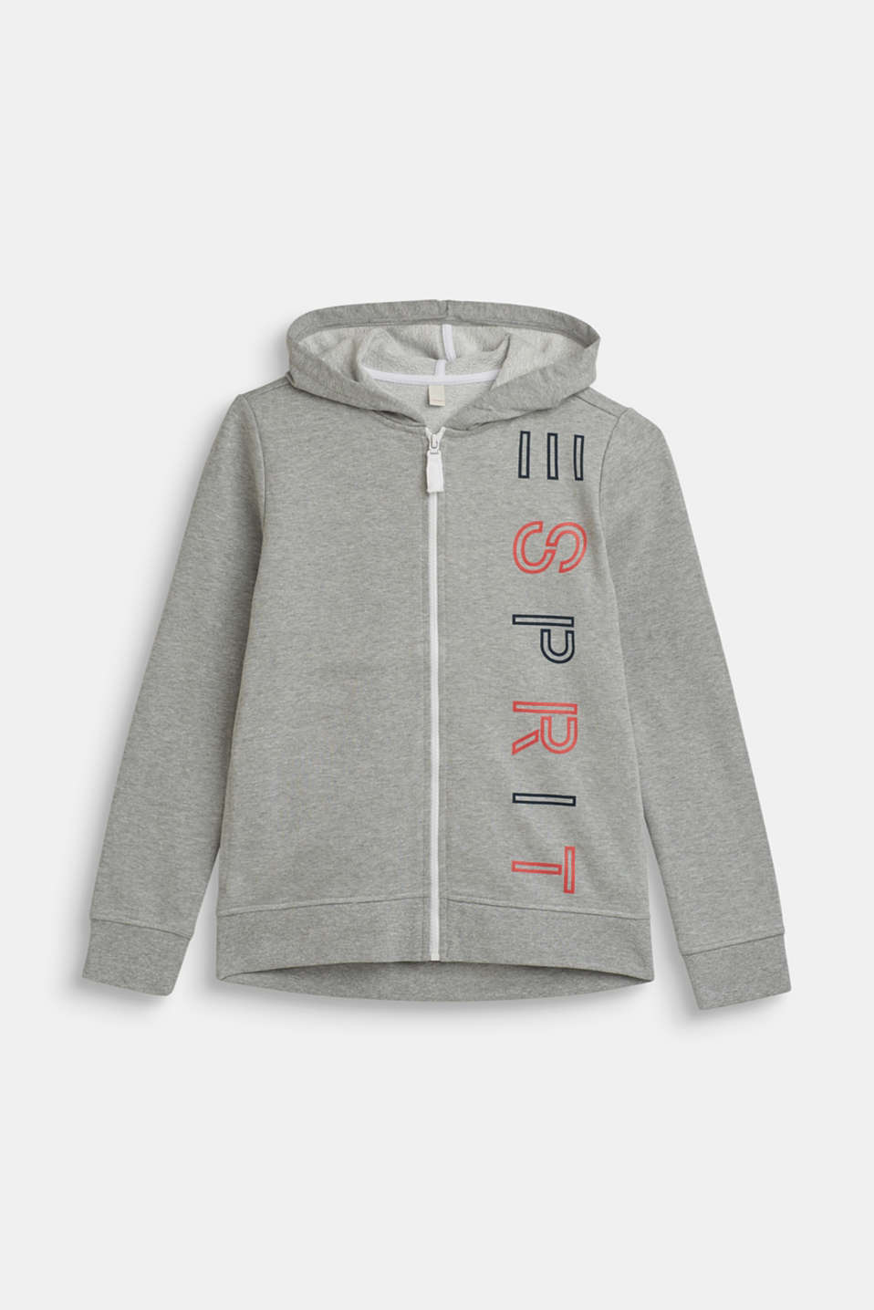Hoodie with a logo print, LCMID HEATHER GR, detail image number 0