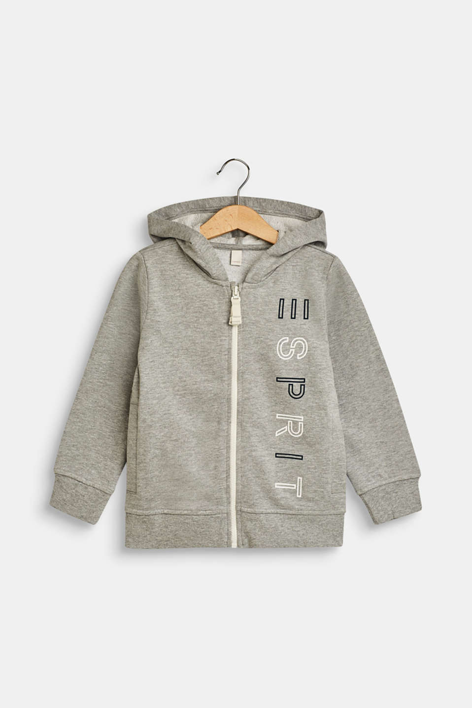 Esprit - Sweatshirt fabric cardigan with a logo print