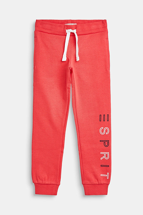Sweatshirt tracksuit bottoms with a logo print, 100% cotton