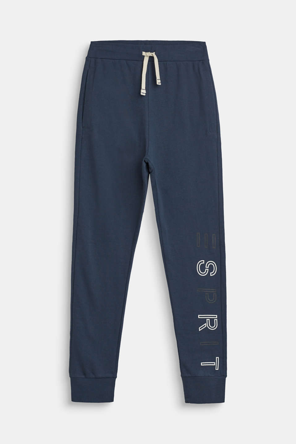 Esprit - Melange tracksuit bottoms with a logo print