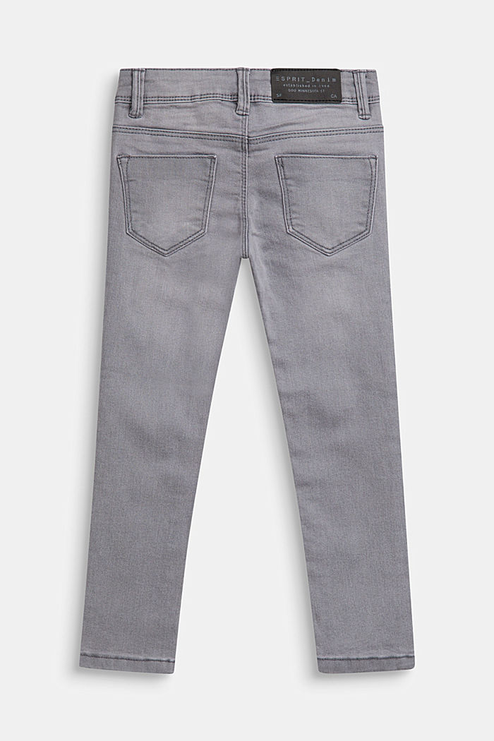 Stretch-Jeans mit Verstellbund, MID GREY DENIM, detail image number 1