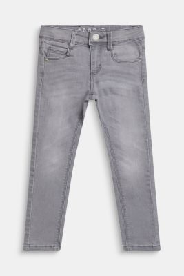 Stretch jeans with an adjustable waist, MID GREY DENIM, detail