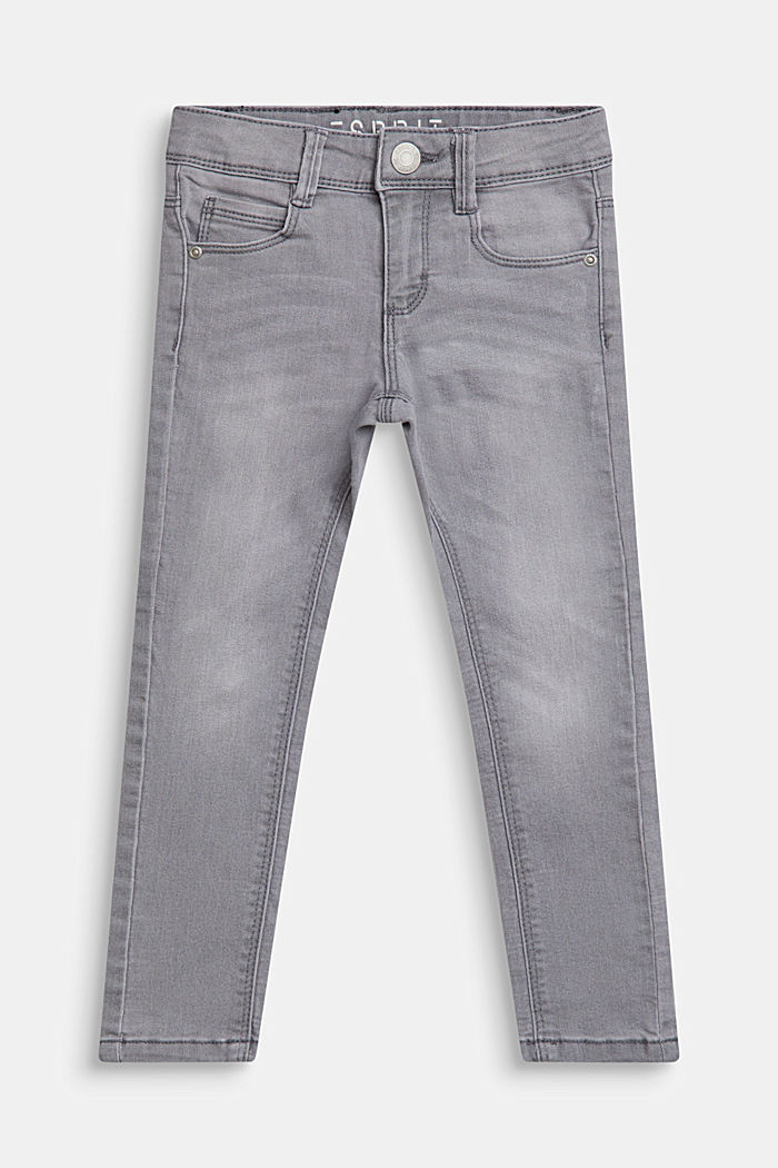 Stretch-Jeans mit Verstellbund, MID GREY DENIM, detail image number 0