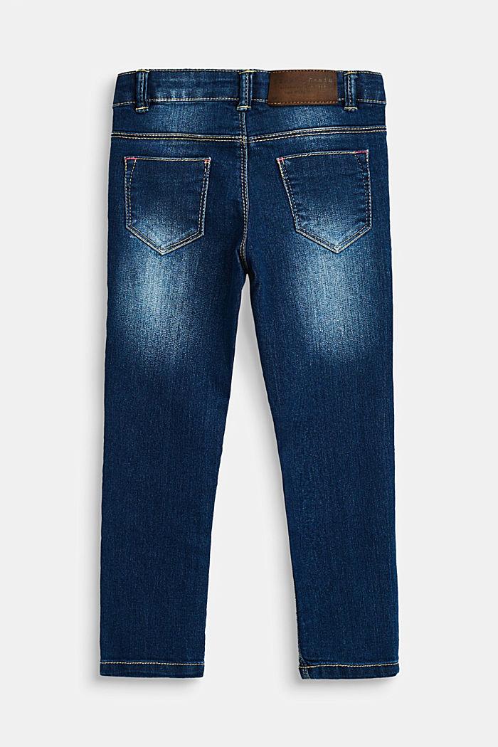 Stretch-Jeans mit Verstellbund, DARK INDIGO DENIM, detail image number 1