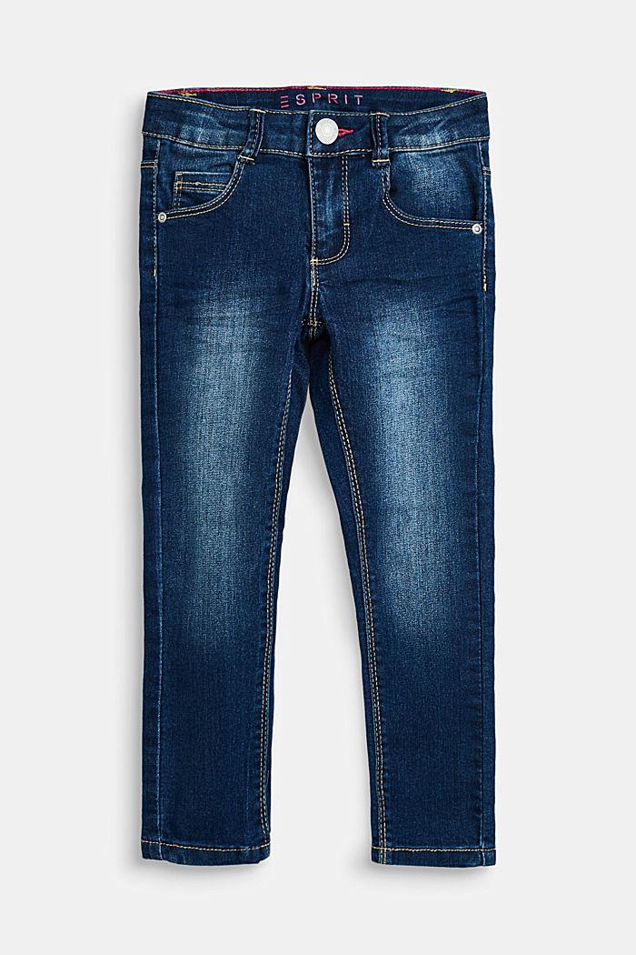 Stretch-Jeans mit Verstellbund, DARK INDIGO DENIM, detail image number 0