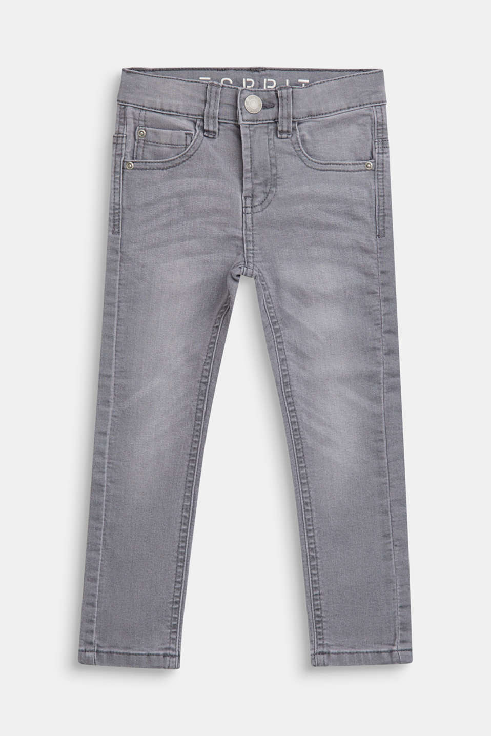 Stretch jeans with an adjustable waist