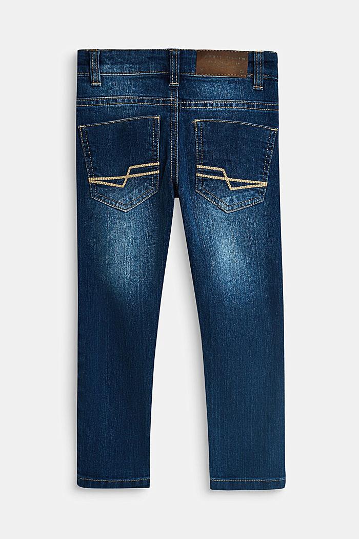 Stretch-Jeans mit Verstellbund, BLUE MEDIUM WASHED, detail image number 1