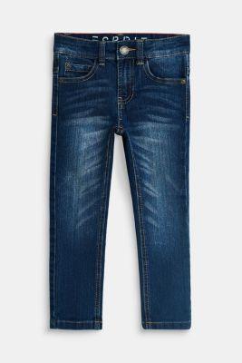 Stretch jeans with an adjustable waist, MEDIUM WASH DE, detail