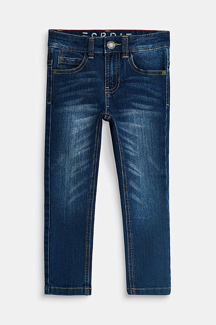 Stretch-Jeans mit Verstellbund, BLUE MEDIUM WASHED, detail image number 0