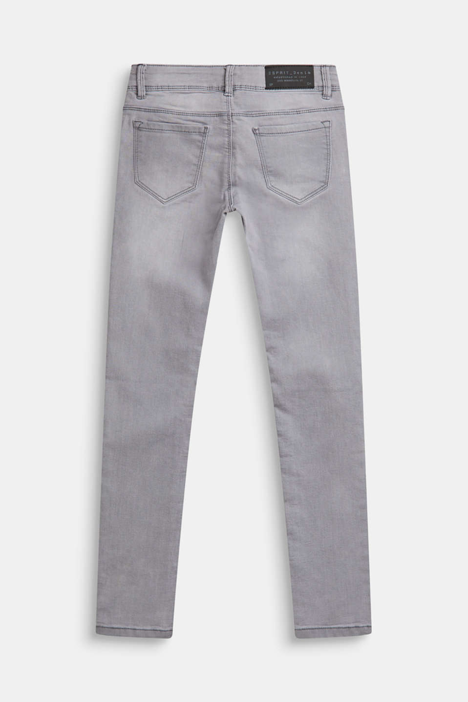 Stretch jeans with an adjustable waist, LCMID GREY DENIM, detail image number 1