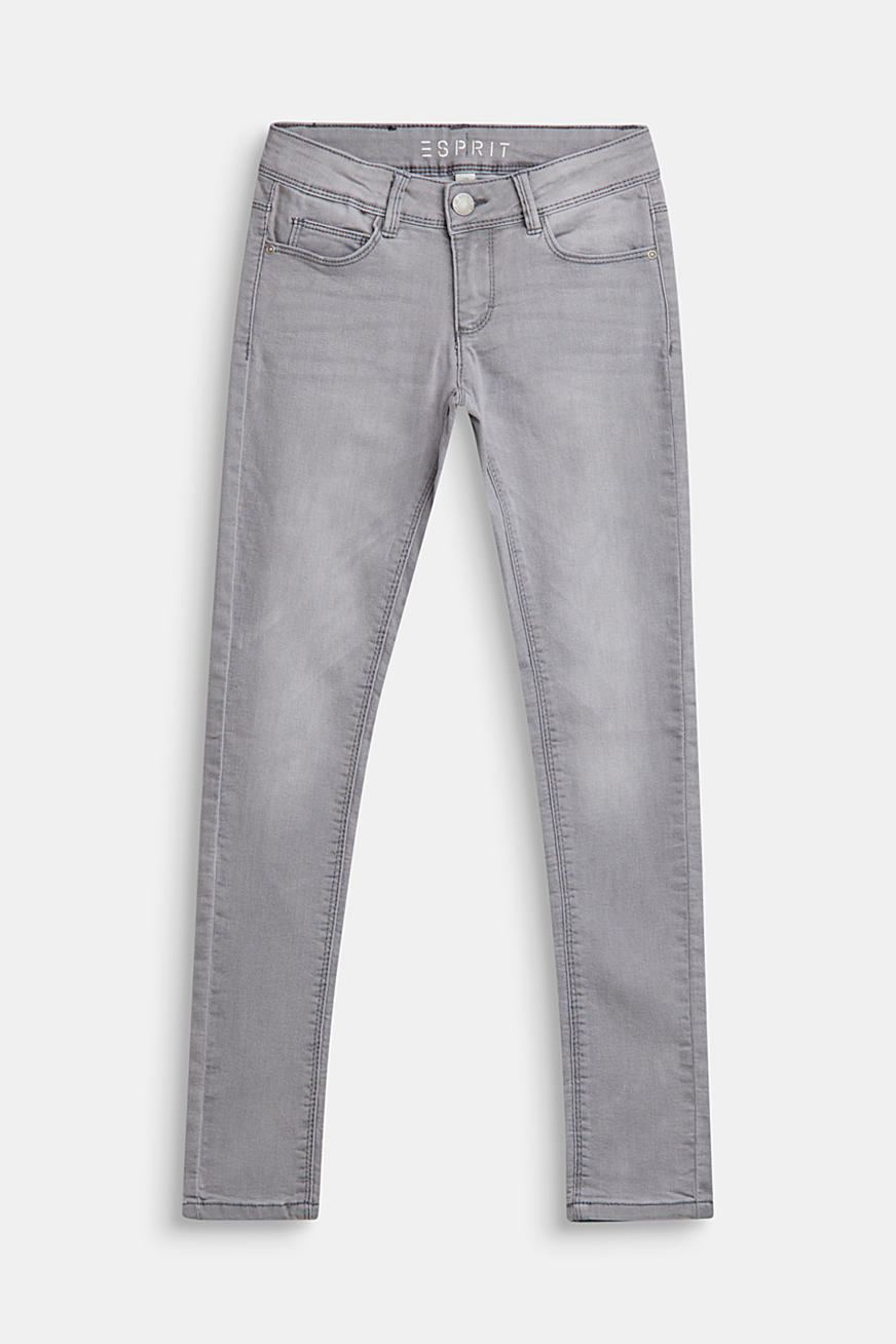 Stretch-jeans m. regulerbar livvidde