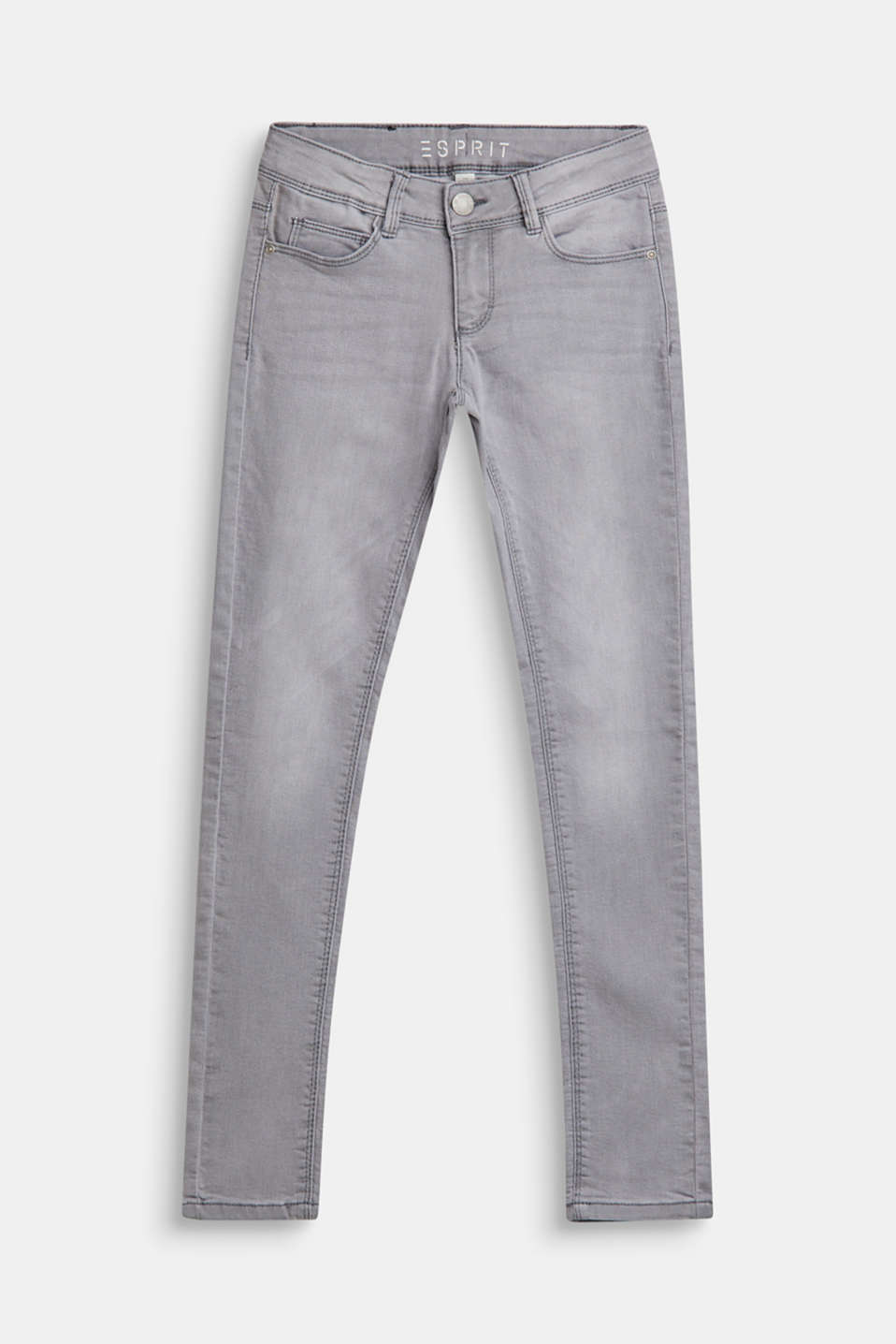 Stretch jeans with an adjustable waist, LCMID GREY DENIM, detail image number 0