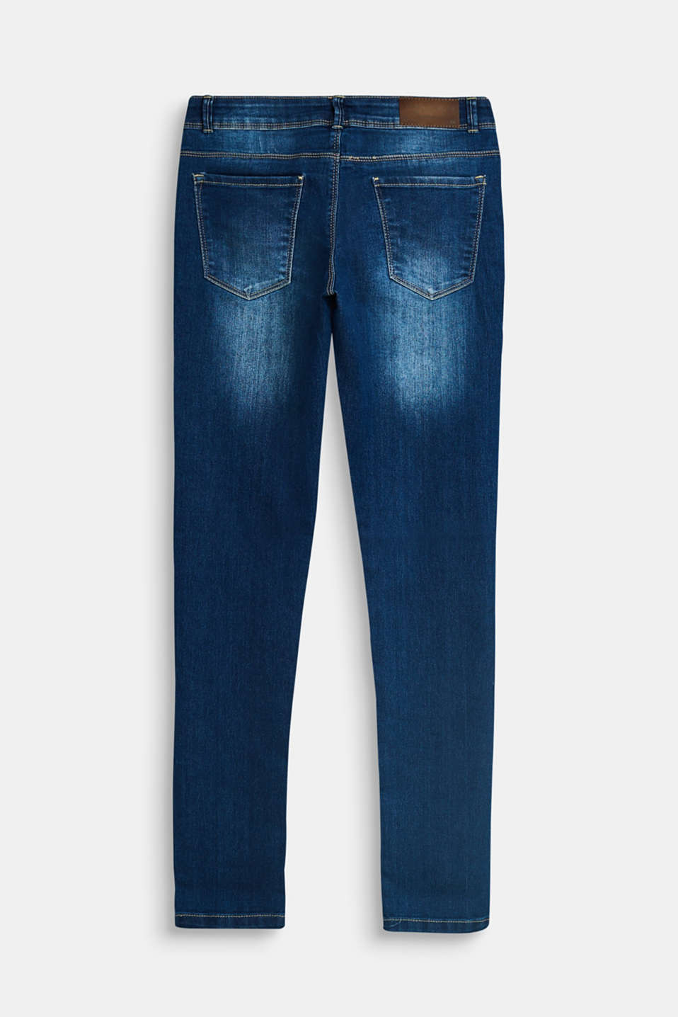 Stretch jeans with an adjustable waist, LCDARK INDIGO DE, detail image number 1