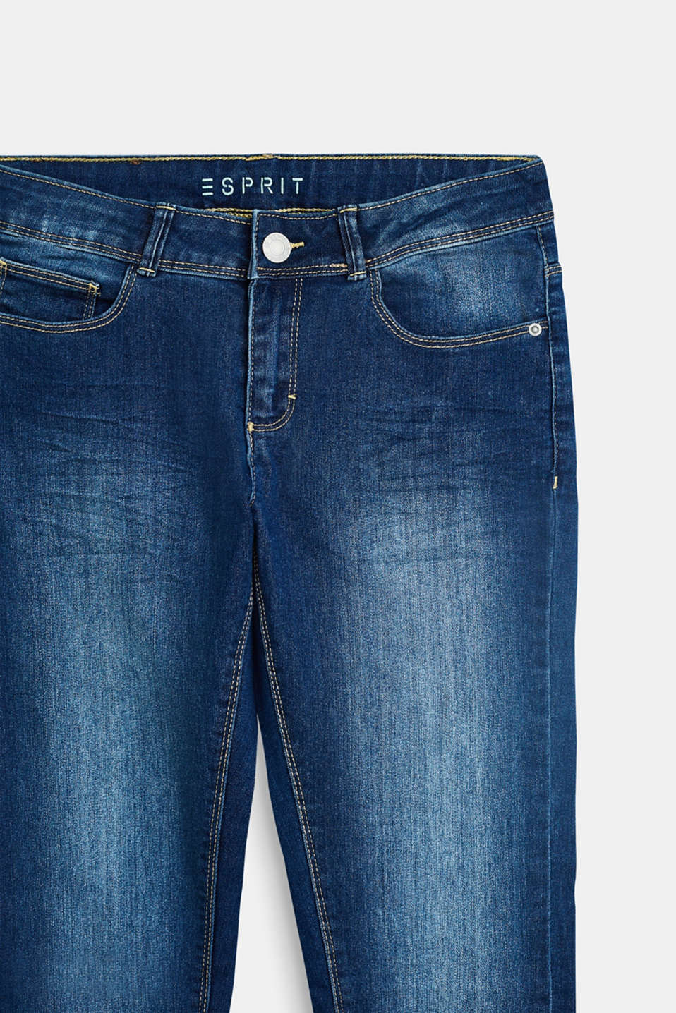 Stretch jeans with an adjustable waist, LCDARK INDIGO DE, detail image number 2