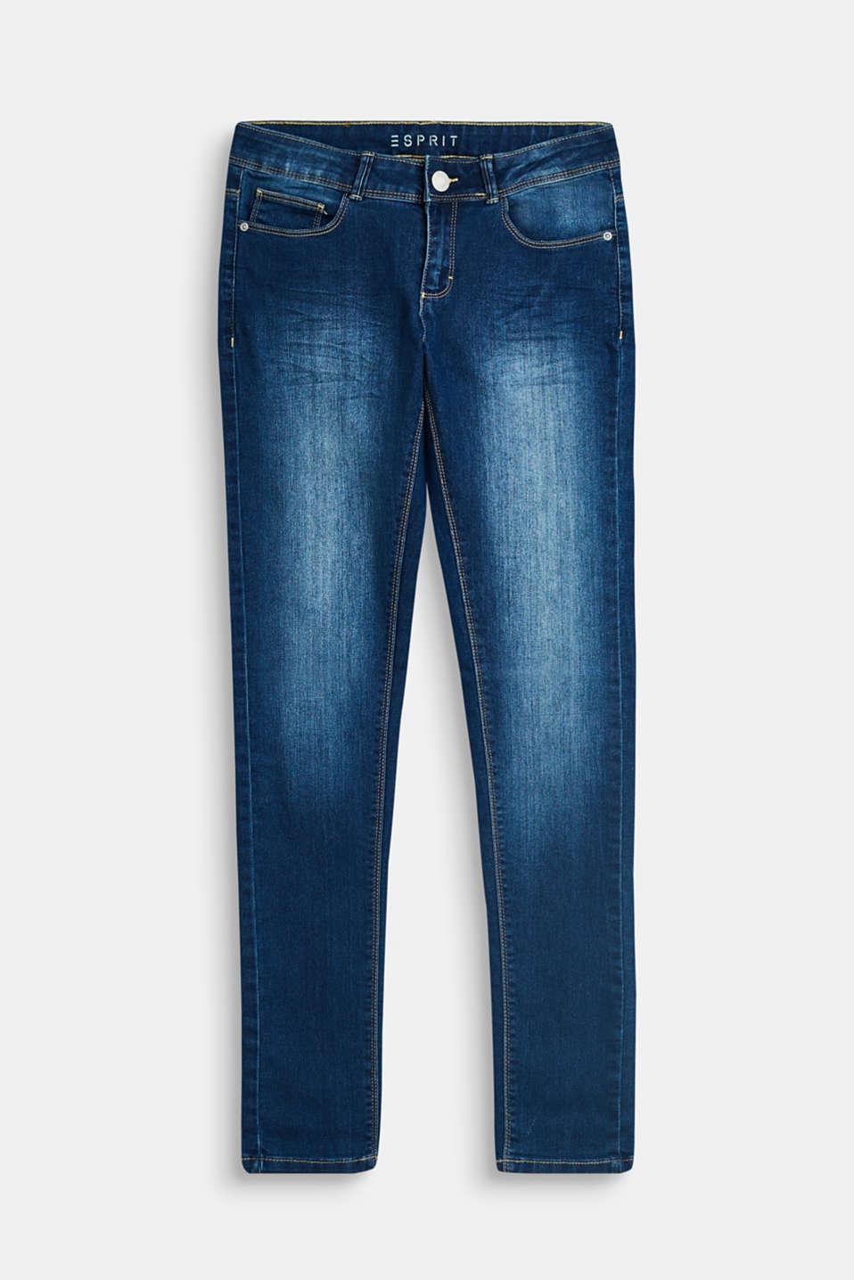 Stretch jeans with an adjustable waist, LCDARK INDIGO DE, detail image number 0