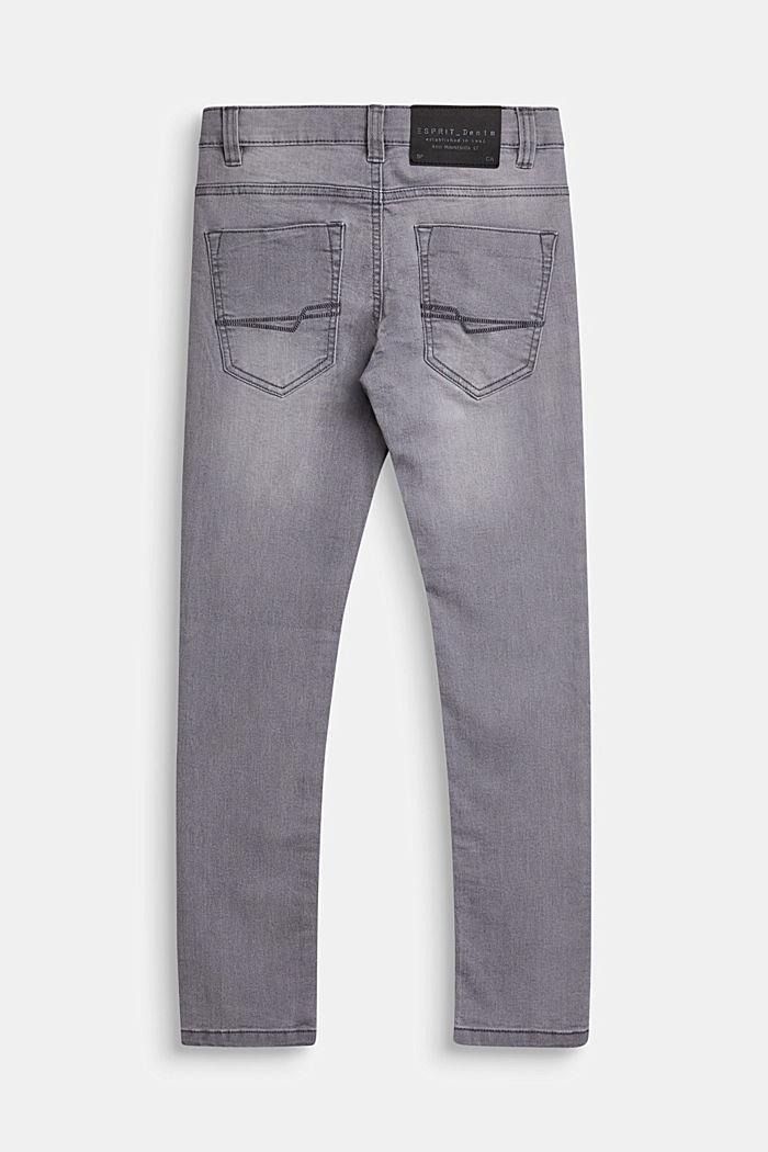Stretch-Jeans mit Verstellbund, MID GREY DENIM, detail image number 1
