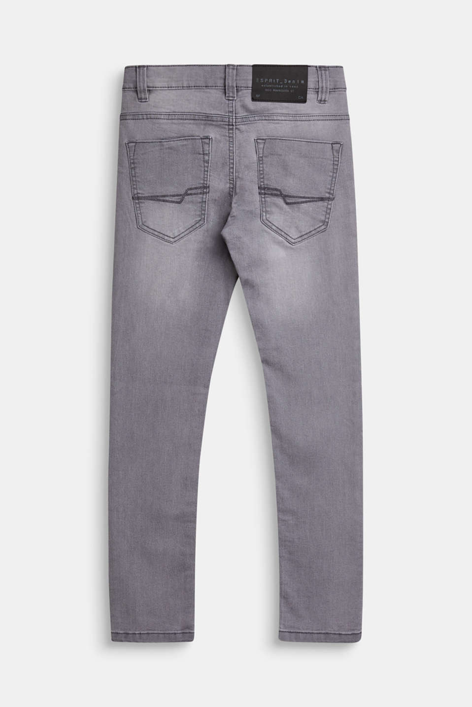 Pants denim, LCMID GREY DENIM, detail image number 1