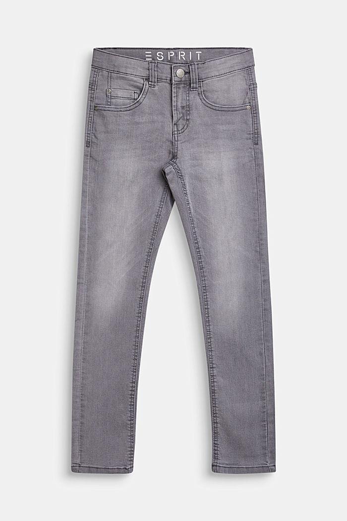 Stretch-Jeans mit Verstellbund, MID GREY DENIM, detail image number 0