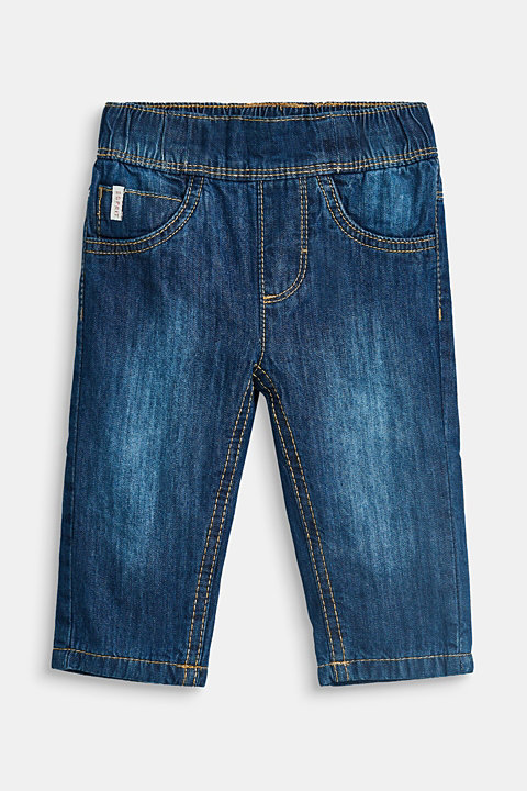 Soft cotton jeans with jersey lining