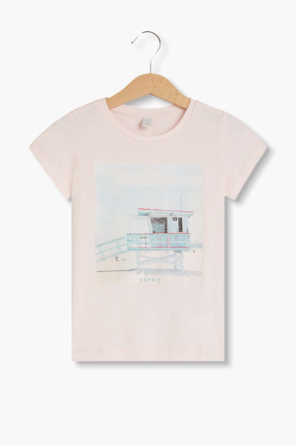Esprit - Photo print T-shirt, 100% cotton