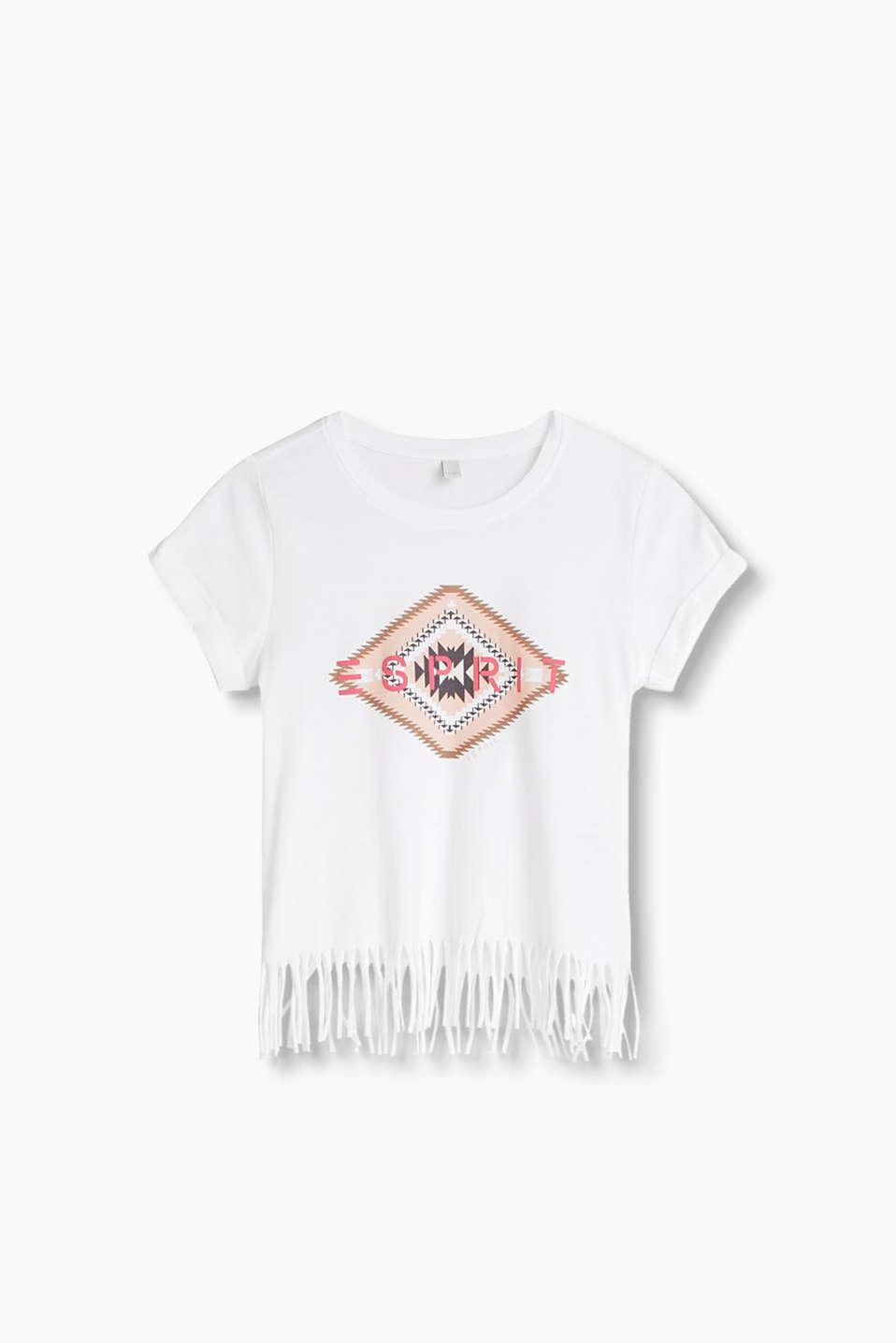 esprit print shirt mit fransen 100 baumwolle im online shop kaufen. Black Bedroom Furniture Sets. Home Design Ideas