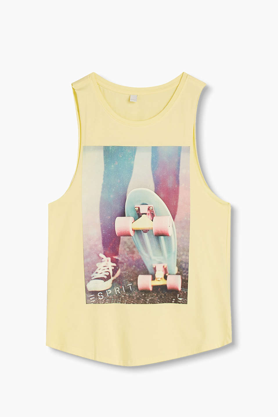 Cool vest with a tone-in-tone photo print, in 100% cotton
