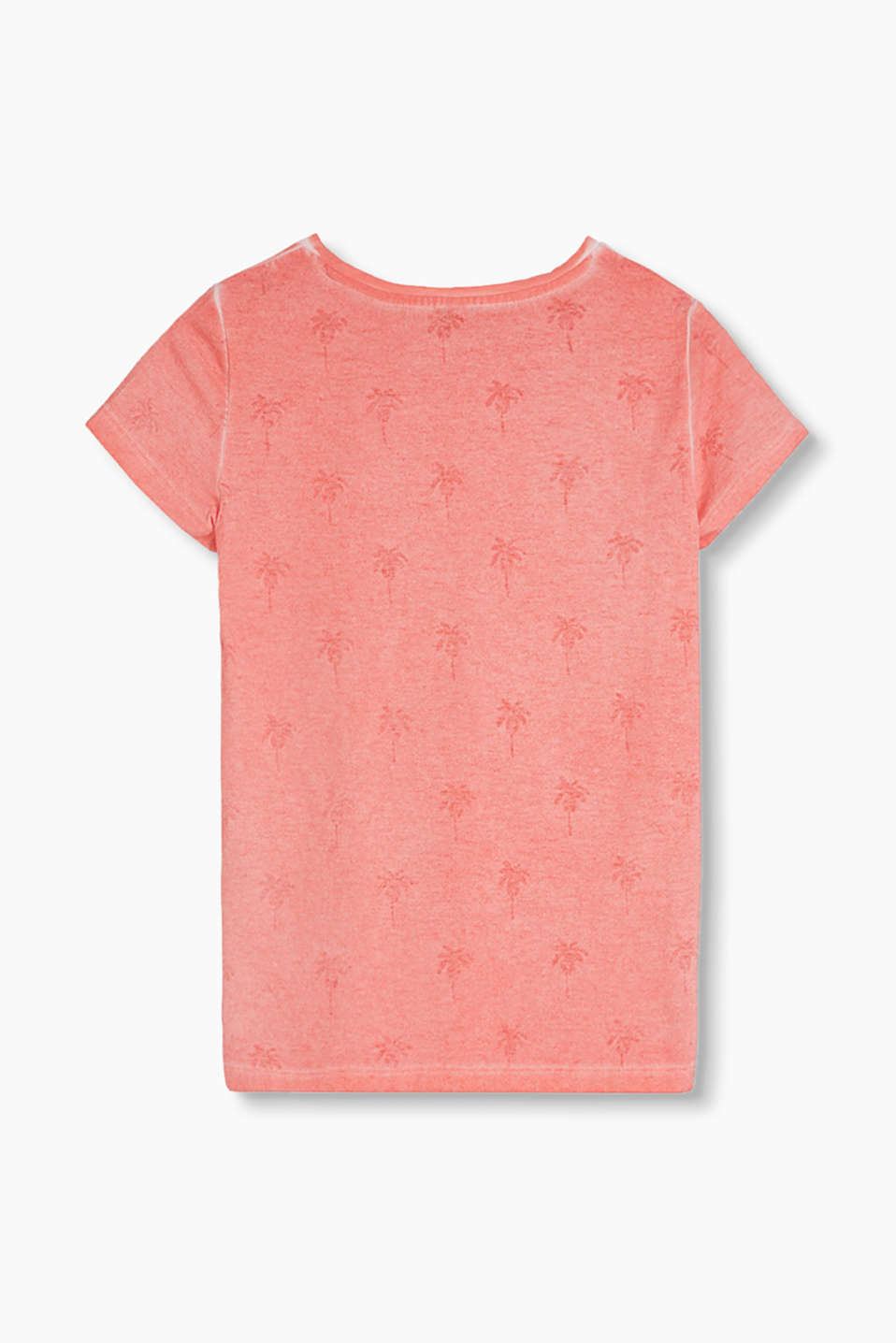 T-shirt with a palm print