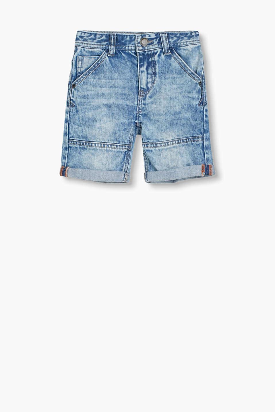 esprit denim shorts aus 100 baumwolle im online shop kaufen. Black Bedroom Furniture Sets. Home Design Ideas