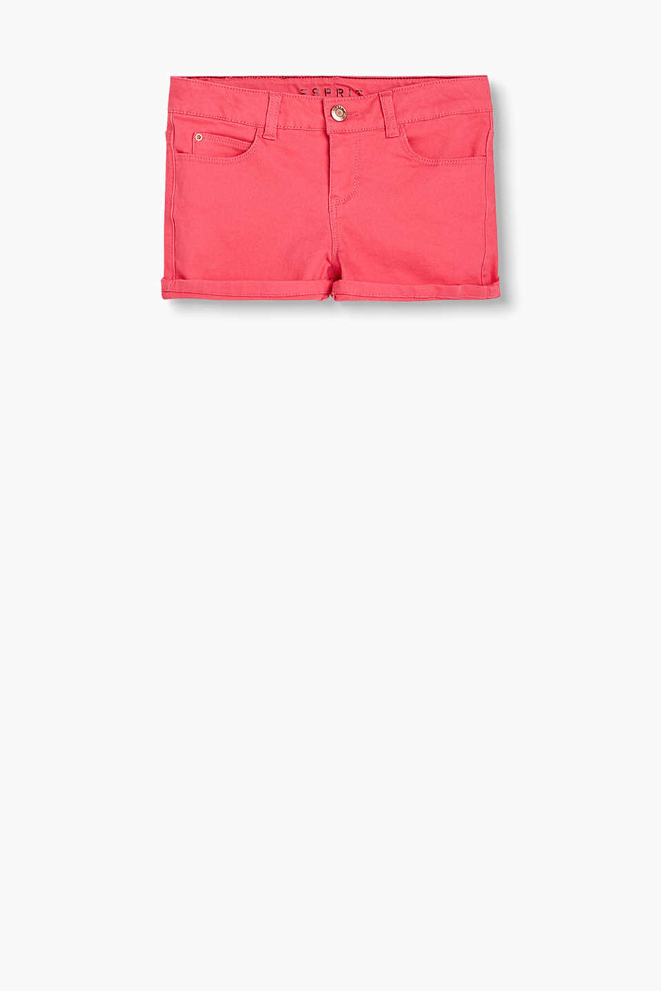 Esprit - Basic Denim-Shorts aus Baumwolle-Stretch