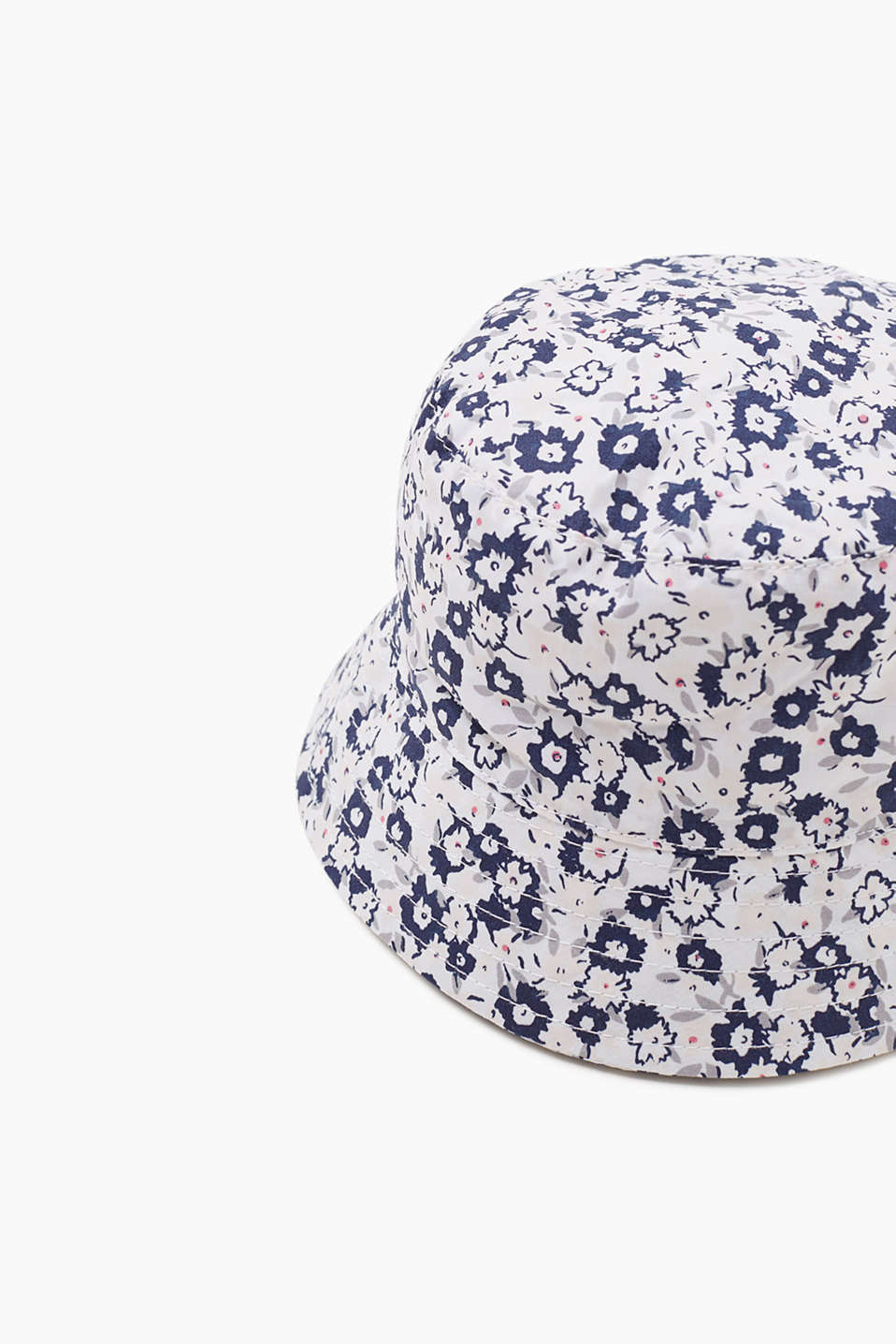 Woven hat with print, 100% cotton