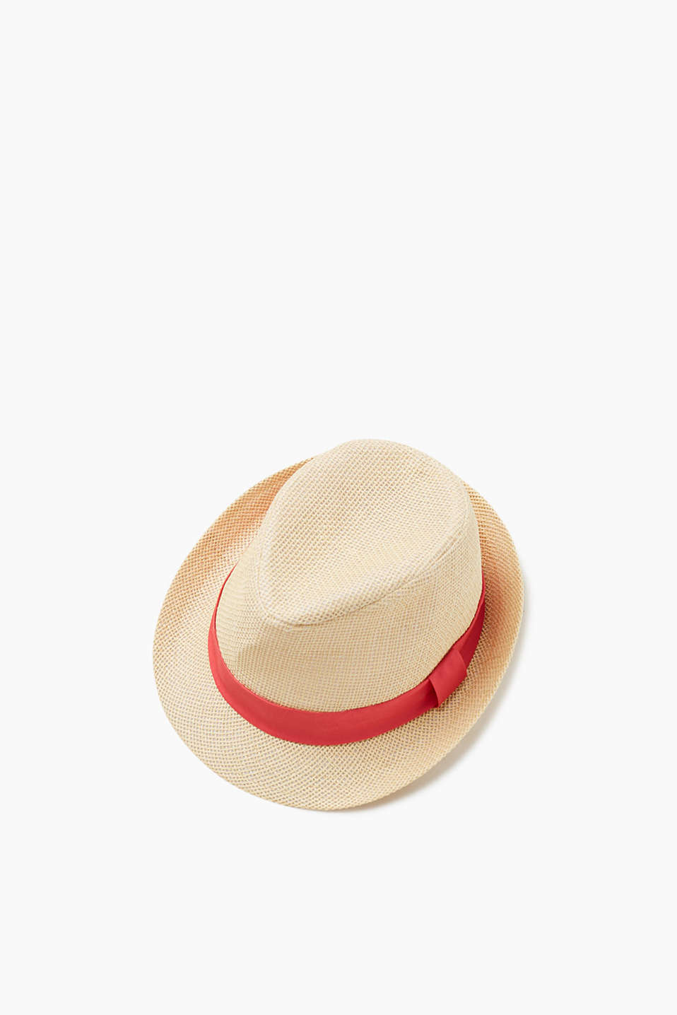 Esprit - Trilby hat in a straw look