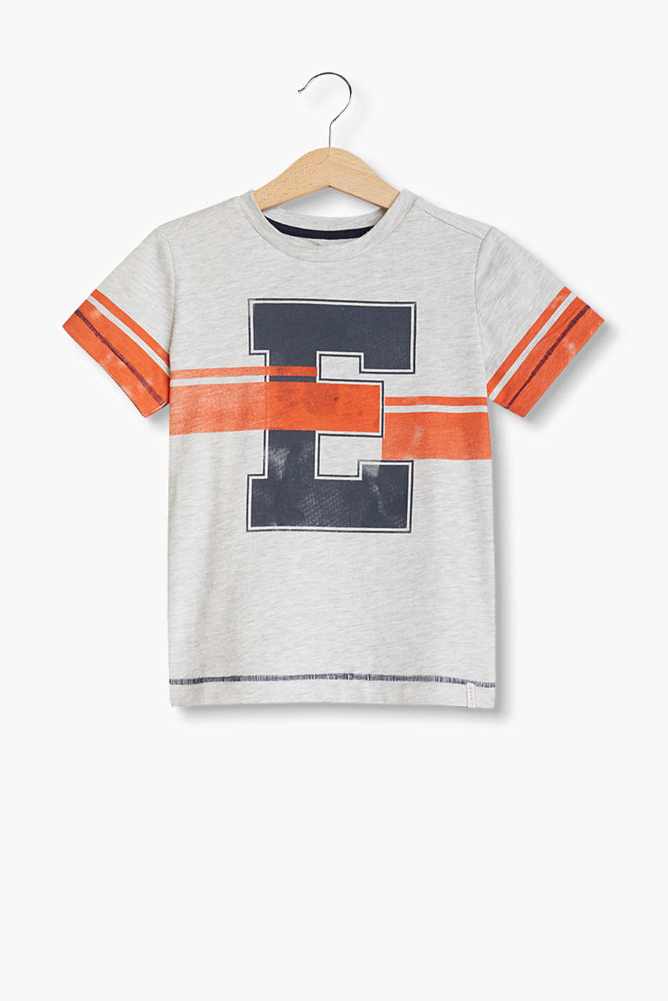 Esprit - Soft melange T-shirt with a vintage print