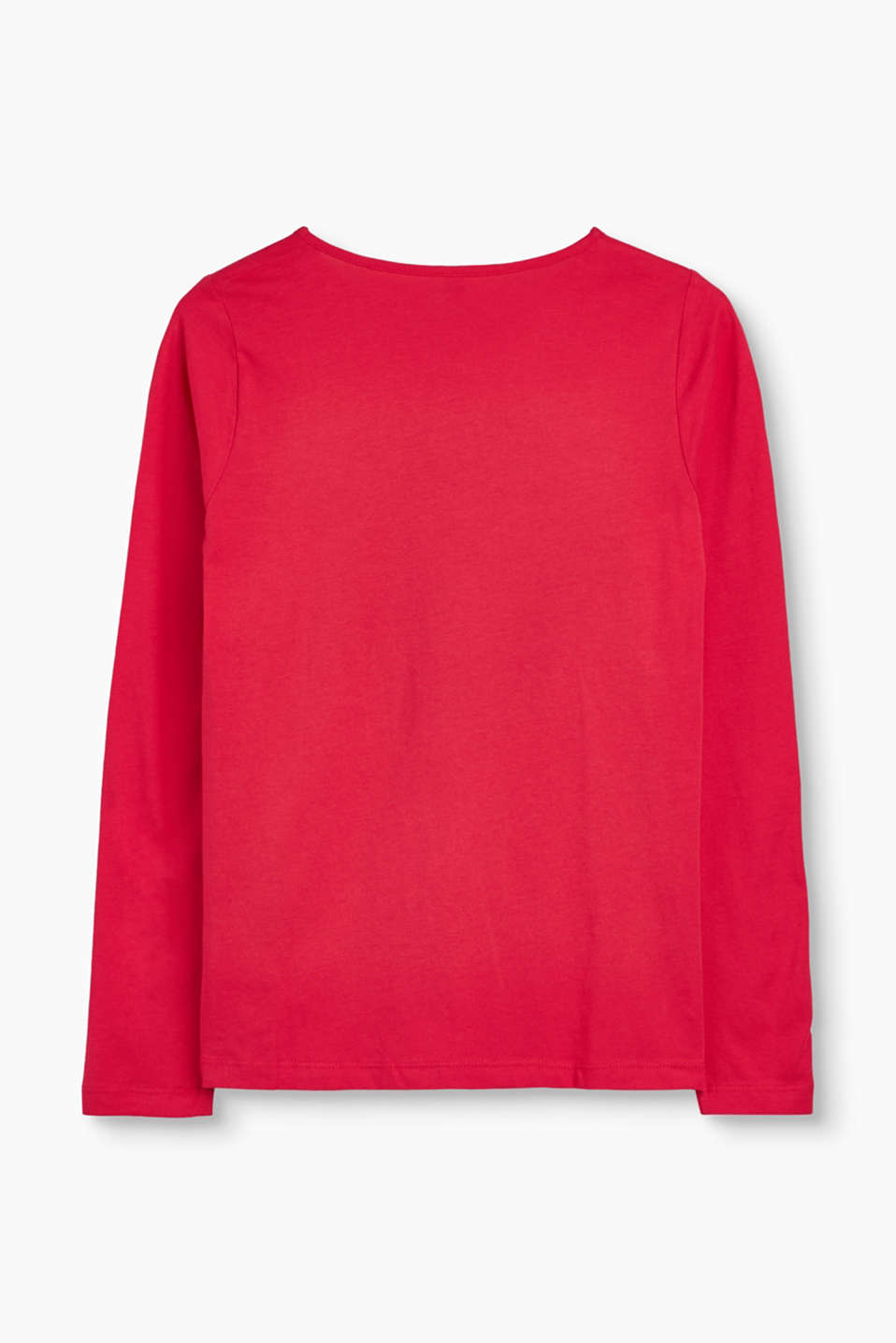Statement long sleeve top, 100% cotton