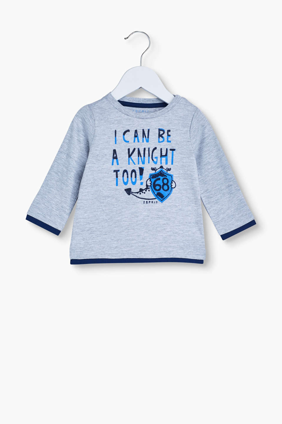 With this long sleeve top in 100% cotton, little knights will always be dressed just right!