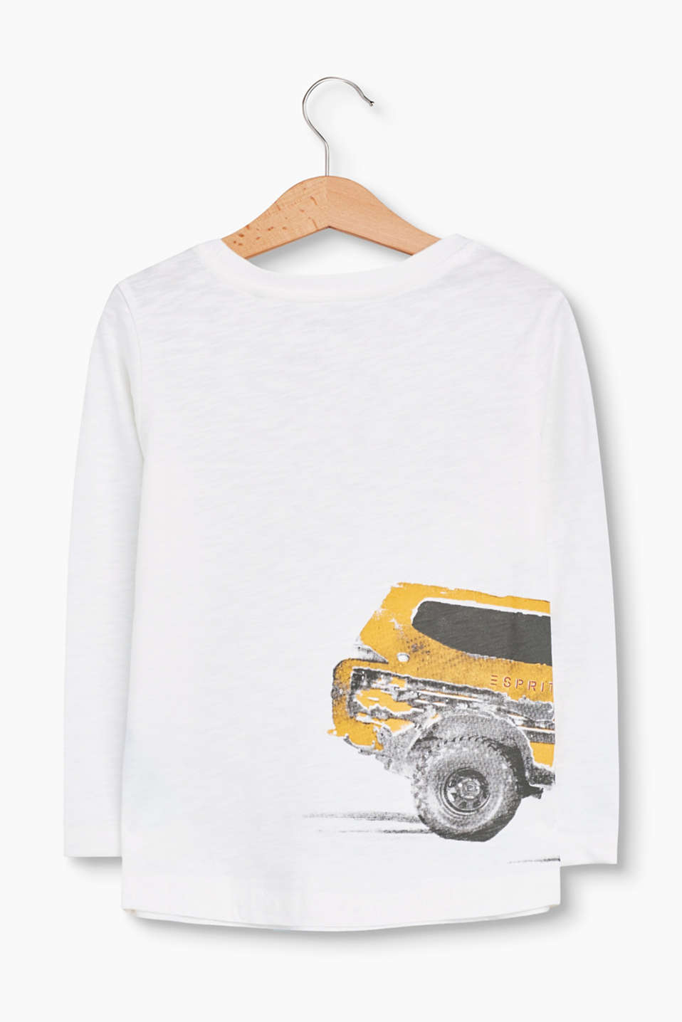 Printed long sleeve top, 100% cotton
